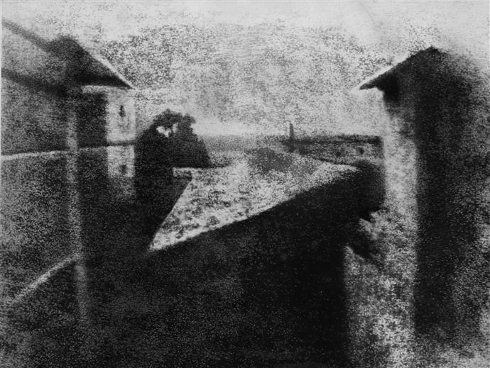 Vista dalla finestra a Le Gras la prima fotografia realizzata l mondo